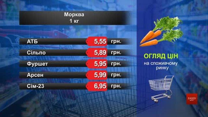 Морква. Огляд цін у львівських супермаркетах за 6 квітня