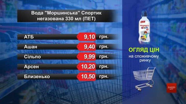 Вода «Моршинська» мінеральна Спортик. Огляд цін у львівських супермаркетах за 20 травня