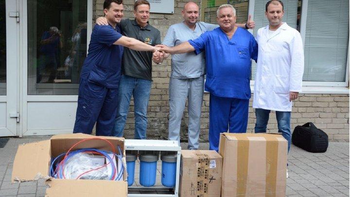 8-й міській лікарні Львова благодійники подарували систему очистки води