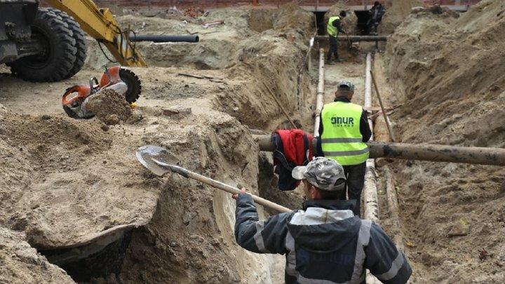 Роботи на вул. Шевченка ускладнює виявлена на глибині скельна порода